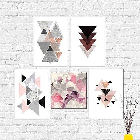 Kit Quadros Decorativos Abstrato