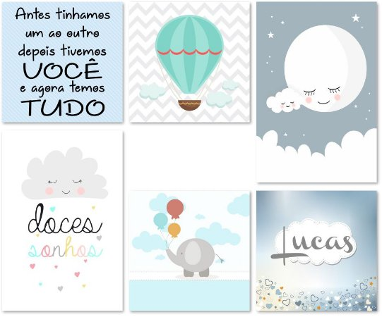 Kit Quadros Decorativos Doces Sonhos