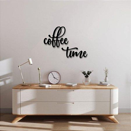Palavra de Parede Coffe Time