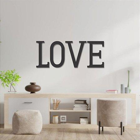 Palavra de Parede Love Letras Individuais