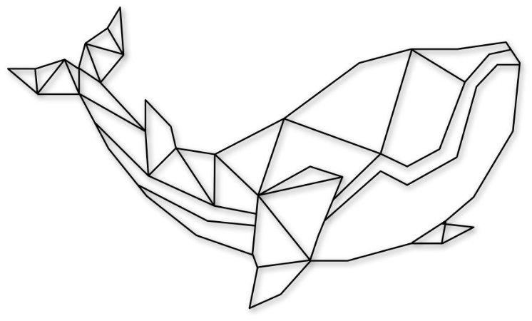 Escultura de Parede Baleia