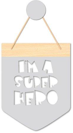 Flâmula Super Hero + Ganchinho Brinde