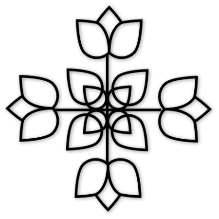 Escultura de Parede Flores
