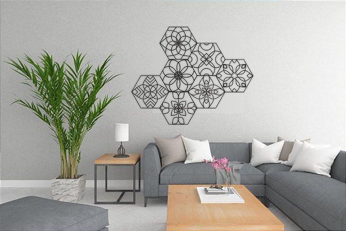 Kit Decoração Mosaico Mandalas