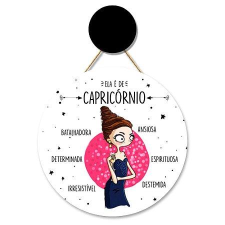 Flâmula Redonda Capricórnio + Ganchinho Brinde