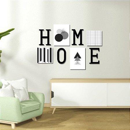 Kit Decoração Home Cinza