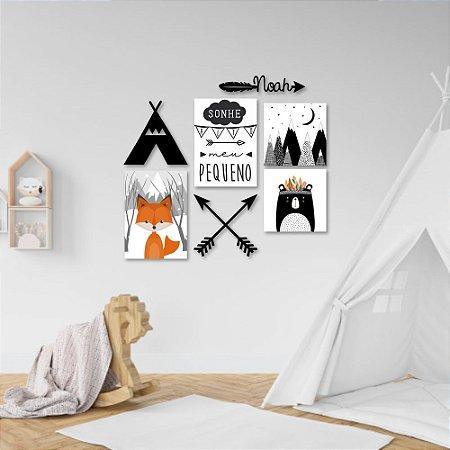 Kit Decoração Infantil Boho Nórdico