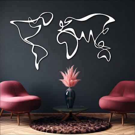 Escultura de Parede Mapa Mundi