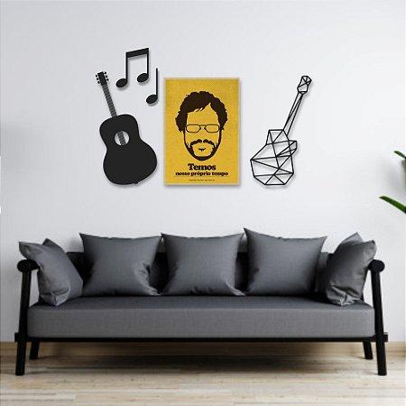 Kit Decoração Música + Presente (Palavra de Parede Gratidão)