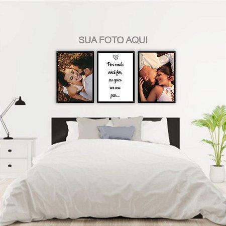 Kit Quadros Decorativos Personalizados Fotos Por onde for