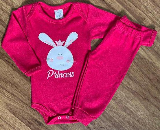 Body e Calça Coelha Pink