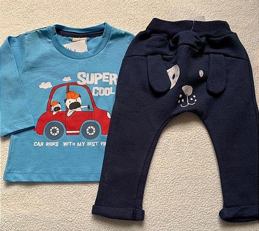 Conjunto Camiseta Manga Longa e Calça Super Cool