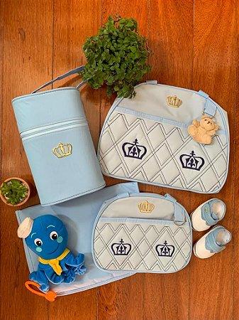 Kit Bolsa Maternidade Gold Azul