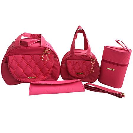 Kit Bolsa Maternidade Diamond Pink