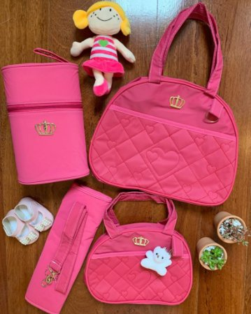 Kit Bolsa Maternidade Gold Pink