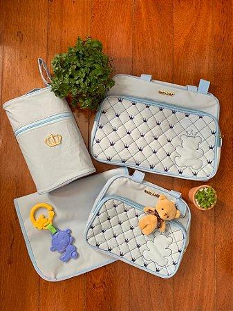 Kit Bolsa Maternidade Top Azul