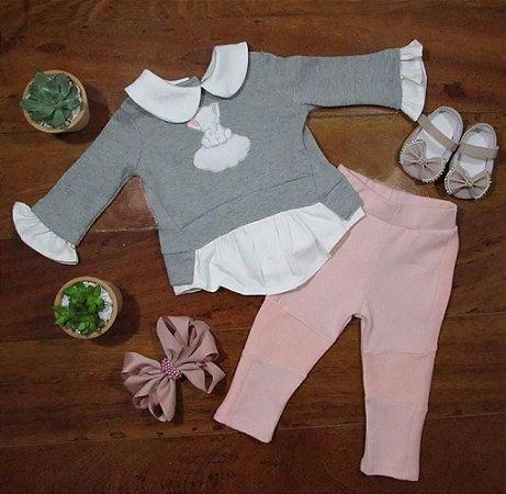Conjunto Moletom Camisa Elefantinho e Calça Montaria