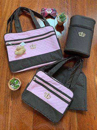 Kit Bolsa Maternidade Luxo Rosa
