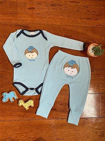 Conjunto Body e Calça Menino Azul