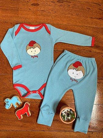 Conjunto Body e Calça Menino Azul e Vermelho