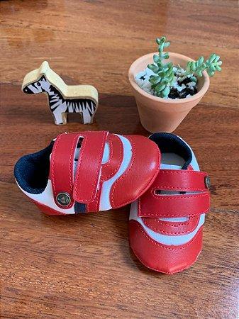 Tênis Velcro Vermelho Marinheiro