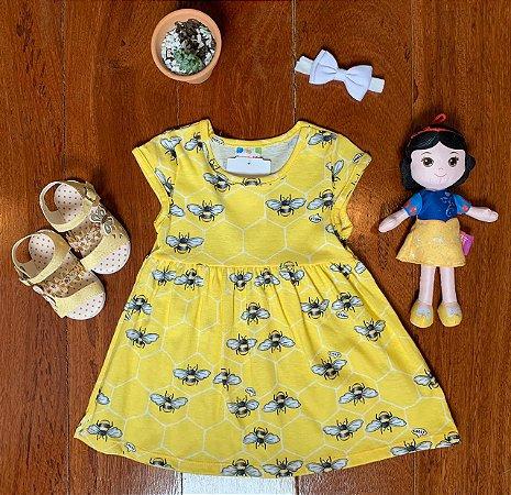 Vestido Abelinhas Amarelo