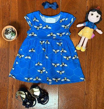 Vestido Abelinhas Azul