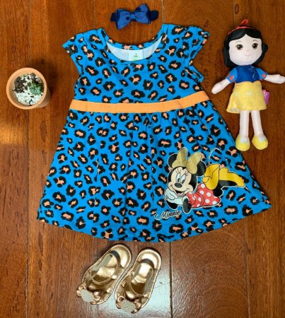 Vestido Minnie Azul