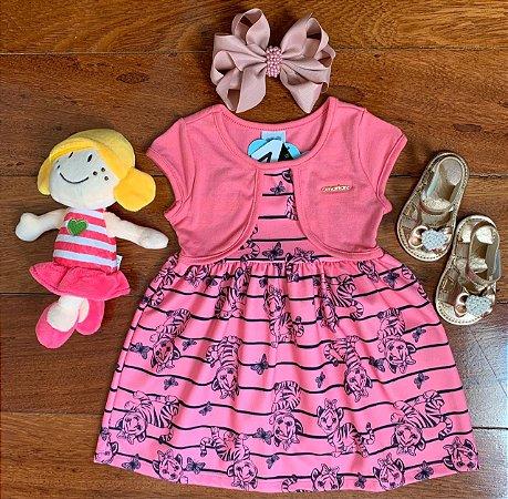Vestido Tigrezinha Rosa
