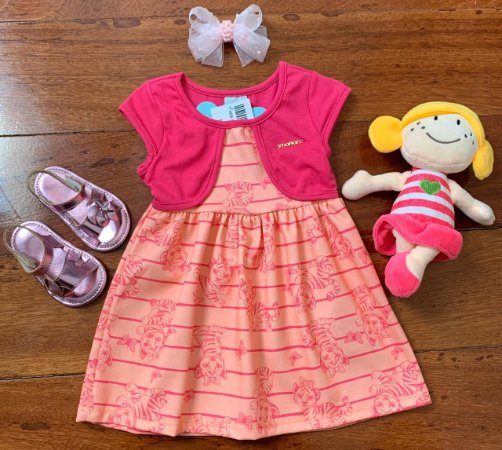 Vestido Tigrezinha Pink