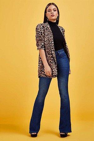 Calça jeans flare cintura média biotipo   ( Frete Grátis para o Estado de SP )