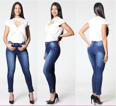 Calça jeans feminina skinny média mid ( Frete Grátis para o Estado de SP )