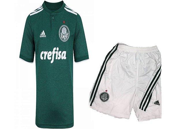 kIT infantil Palmeiras Infantil I 2018 s n° Torcedor Camisa Adidas ... f7220bf4b88c1