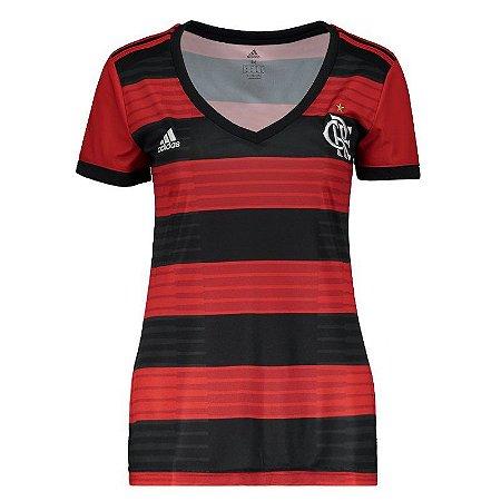 f2df66ebb8 Nova Camisa Flamengo Feminina Oficial Adidas 2018 2019 Futtudo ...