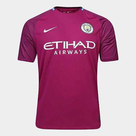 Camisa Manchester City Away 17 18 - Torcedor Nike Masculina - Violeta a56597b102f46
