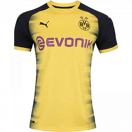 52f480614 Camisa Borussia Dortmund Third 17 18 - Torcedor Puma Masculina - Amarelo e  Preto