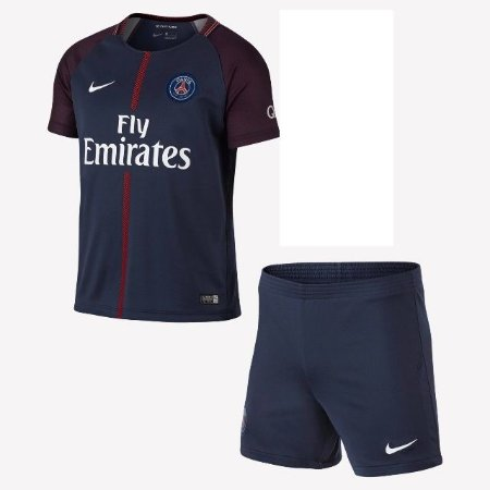 760d0be02c Camisa Paris Saint Germain Kit Infantil Home 17 18 s nº Torcedor Nike -