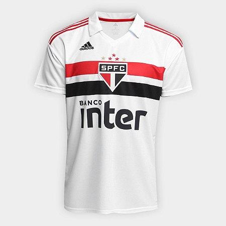 Camisa São Paulo I 2018 Torcedor Adidas Masculina - Branco e Vermelho 328889858d1bf