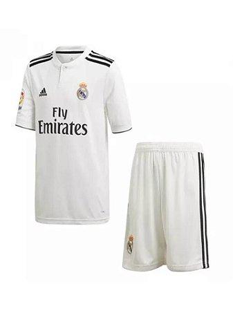 Kit Infantil Real Madrid Oficial Adidas 2018 2019 Lançamento Futtudo de35d5e07ef9c