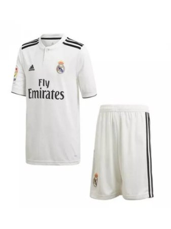 b17925f4a Kit Infantil Real Madrid Oficial Adidas 2018 2019 Lançamento Futtudo