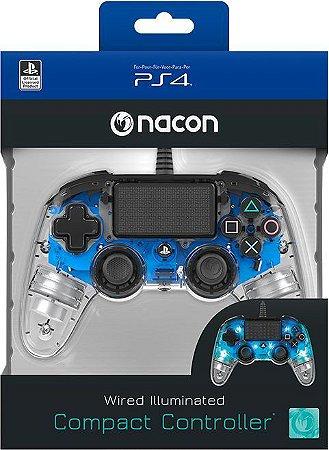 Controle Nacon Ps4- Compacto Iluminado Azul