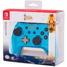 Controle The Legend Of Zelda - Azul - Wired Edition - Switch