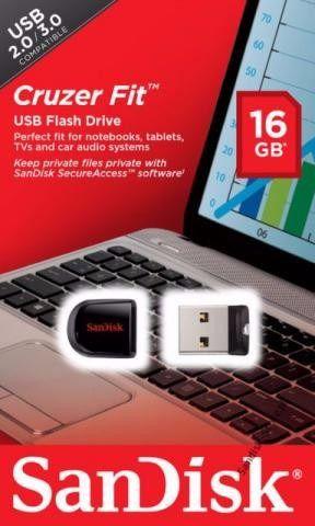 Usb Pen Drive Sandisk Cruzer Fit 16gb