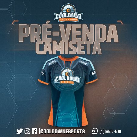 Camiseta Cooldown E-sports (Pré-venda)