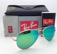 Ray ban Aviador Verde Espelhado