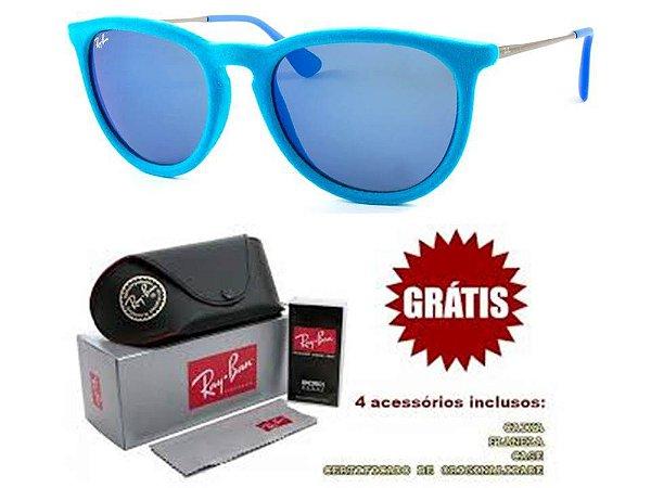 Óculos Ray ban Erika Velvet Azul Replica Primeira Linha