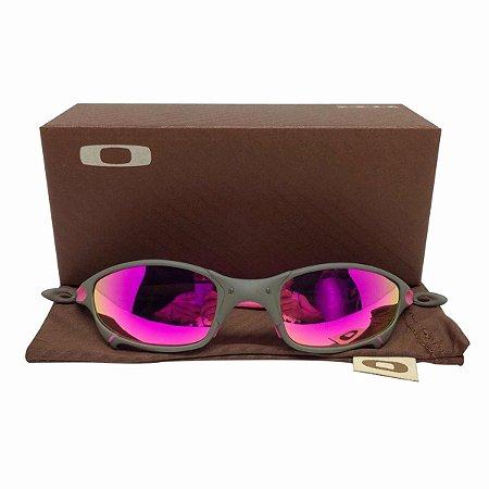 Oculos Oakley Juliet Xmetal Rosa Borrachinha Rosa Replica
