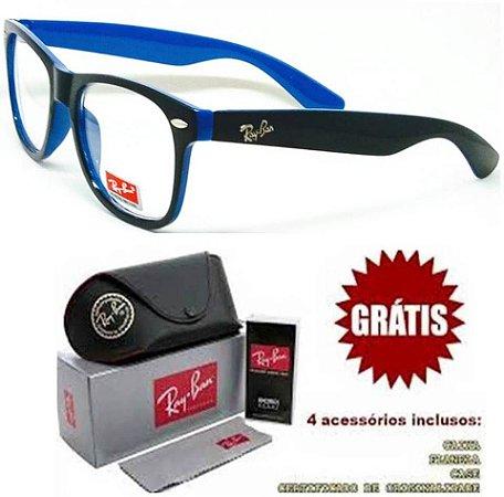 1e62399ac0c0c Armação Quadrada P  Óculos De Grau Ray-Ban Modelo 2018 2019 ...