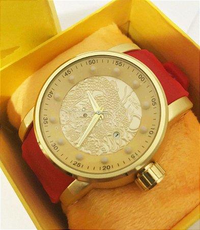 Relógio Invicta Yakuza Dragon S1 Vermelho