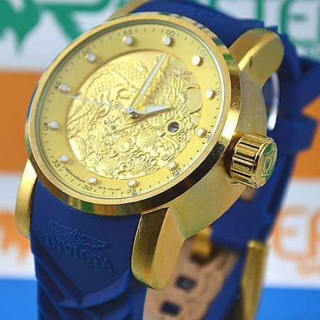 59425a21527 Replica Relogio Invicta Yakuza Dragon S1 Azul Barato - Replicas de ...